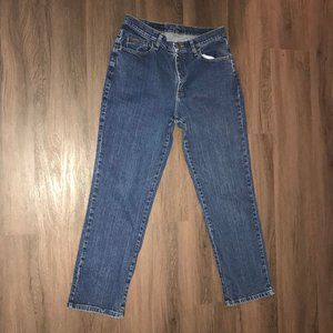 Lee Riders Size 14 M Straight Leg Womens Jeans